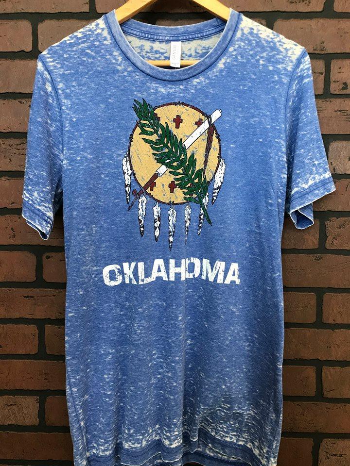 Oklahoma Blue Acid Wash